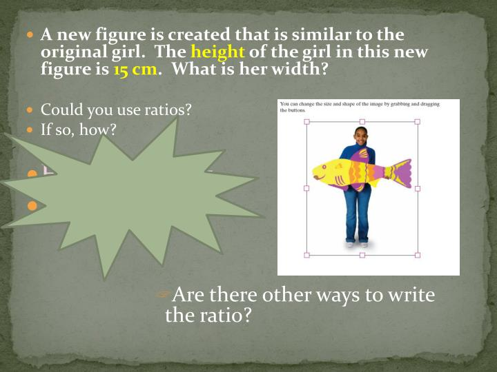 A new figure is created that is similar to the original girl.  The