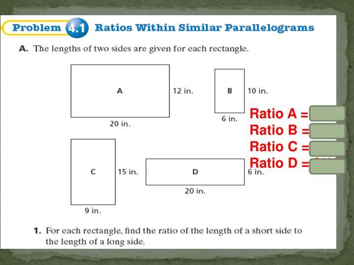 Ratio A = 3/5