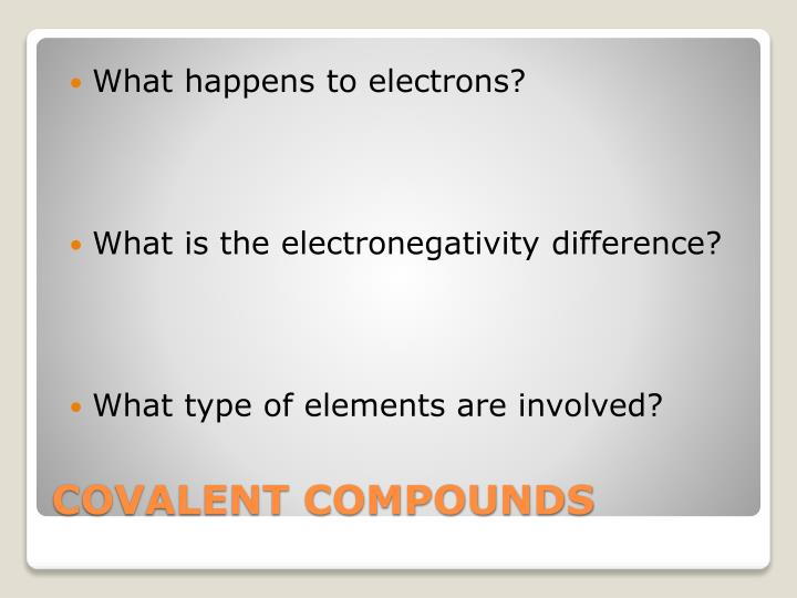 What happens to electrons?