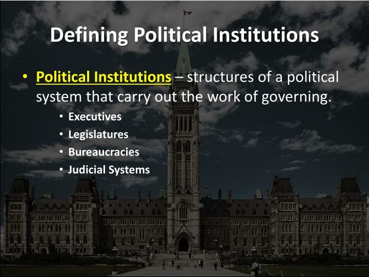 Defining political institutions
