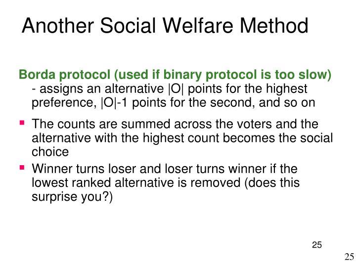 Another Social Welfare Method