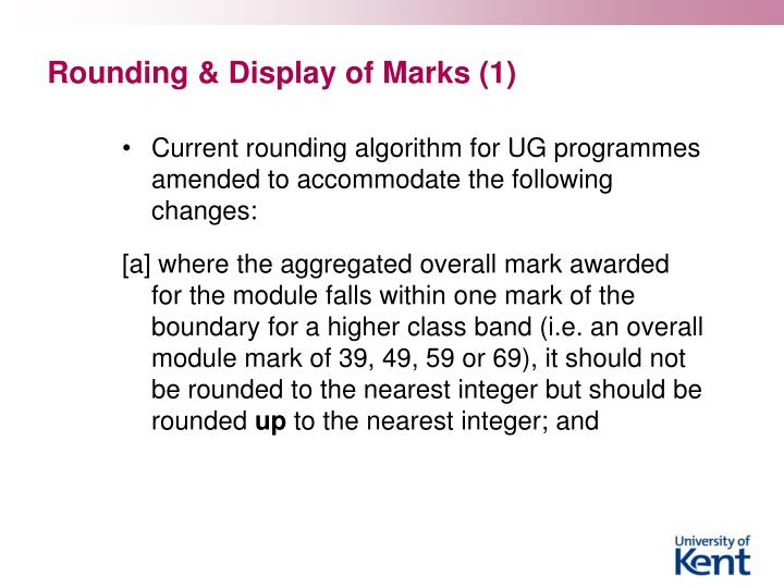 Rounding & Display of Marks (1)