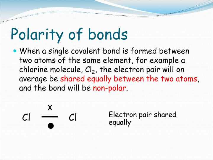 Polarity of bonds
