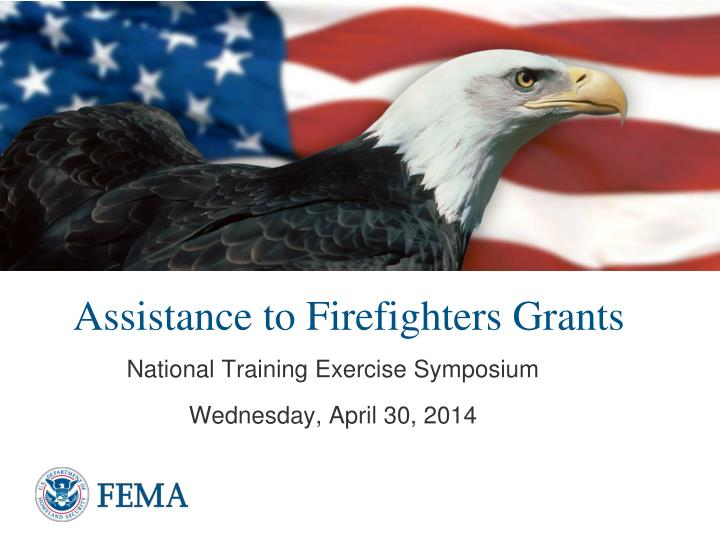 Assistance to firefighters grants