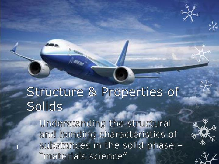structure properties of solids n.