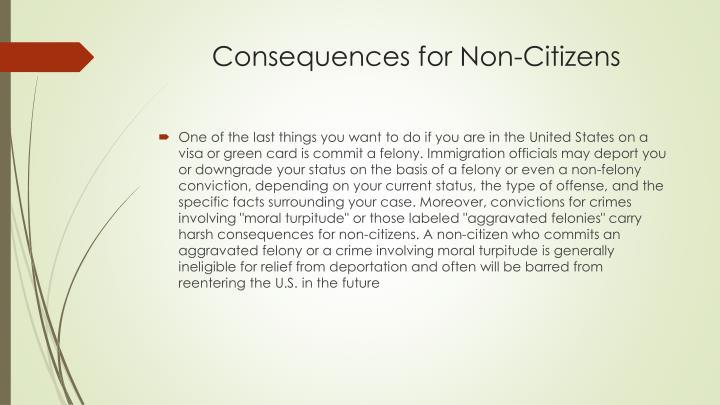 Consequences for Non-Citizens