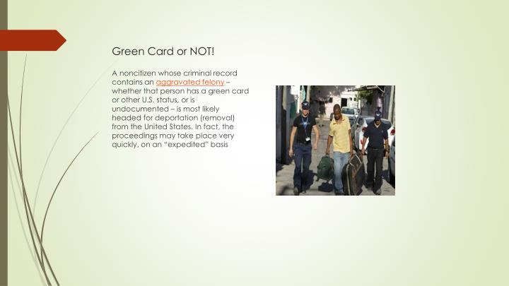 Green Card or NOT!