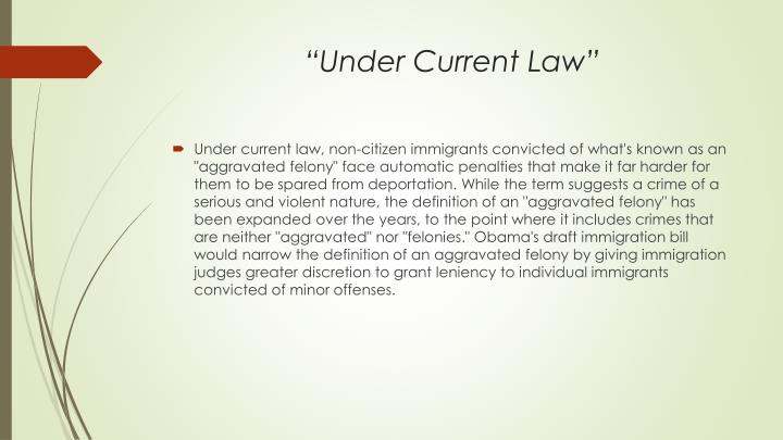 Under current law