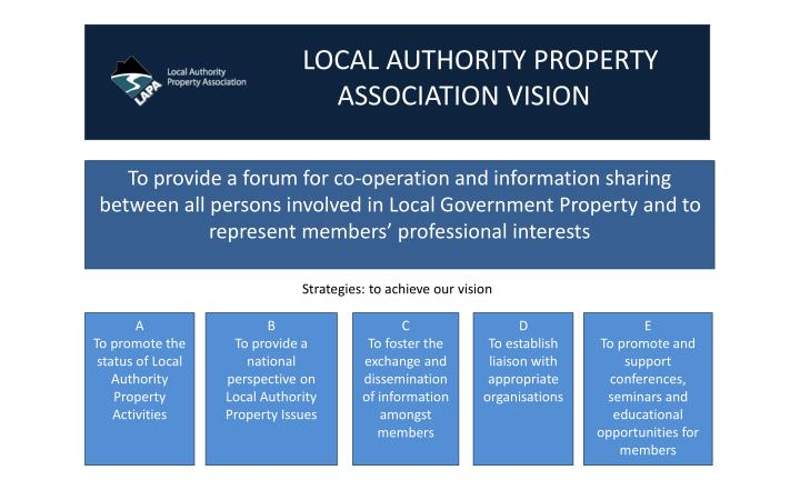 LOCAL AUTHORITY PROPERTY                    ASSOCIATION VISION