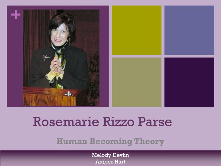 humanbecoming theory Was first published in 1981, by rosemarie rizzo parse, under the name man-living-health theory it was changed in 1992 to the human becoming theory.