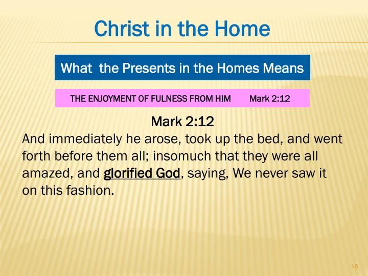 Christ in the Home