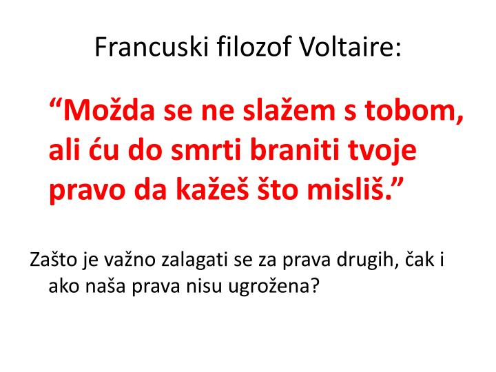 Francuski filozof Voltaire: