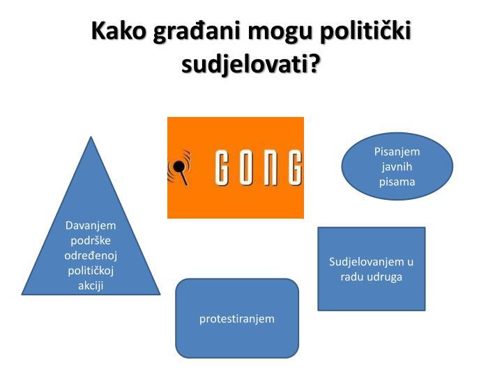 Kako građani mogu politički sudjelovati?