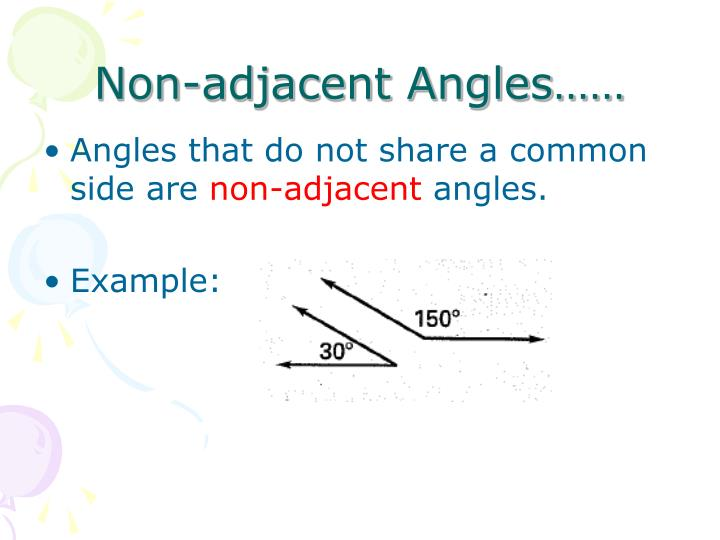 Non-adjacent Angles……