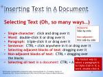 inserting text in a document1