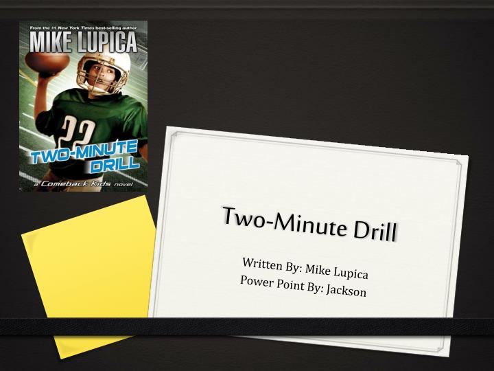 two minute drill n.