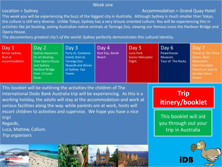 PPT - Trip itinery/booklet PowerPoint Presentation - ID:1991468