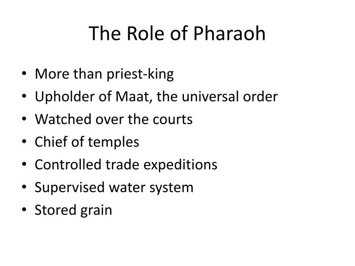 The Role of Pharaoh