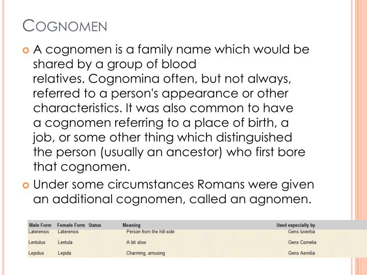 Cognomen
