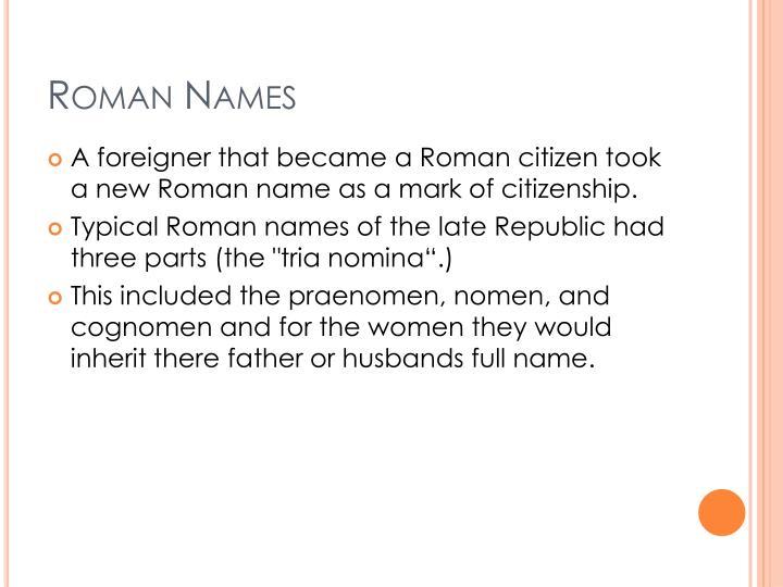 Roman names1
