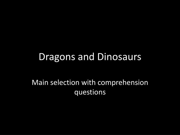 dragons and dinosaurs n.