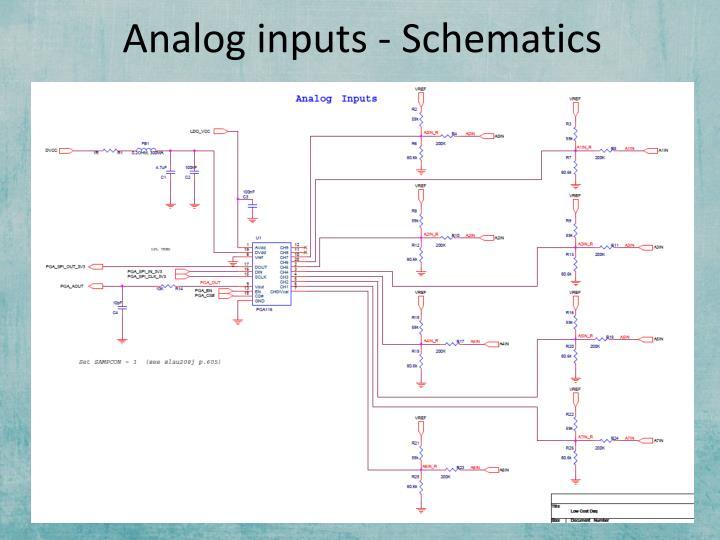Analog inputs - Schematics