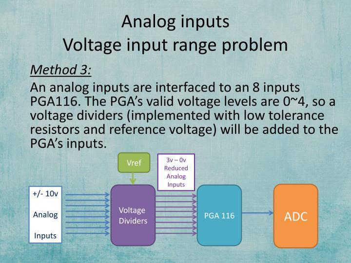 Analog inputs