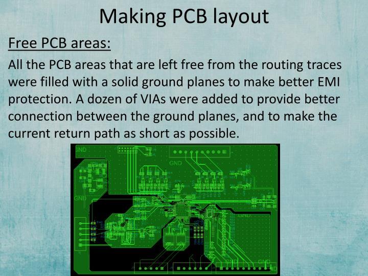 Making PCB layout