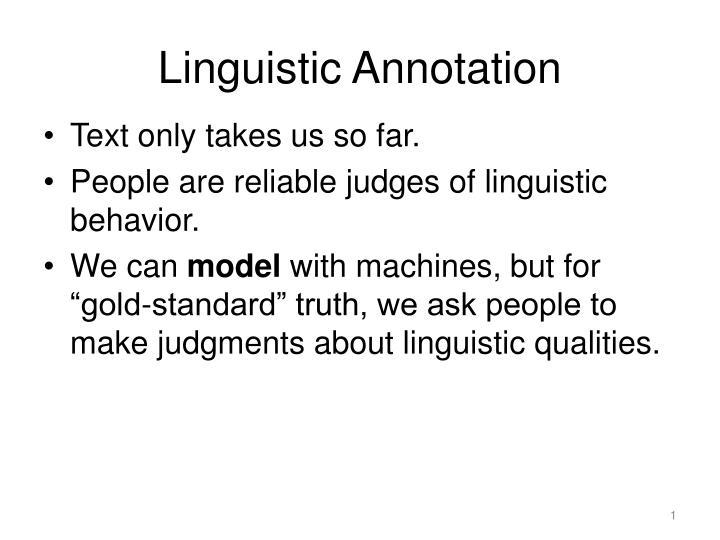 Linguistic annotation