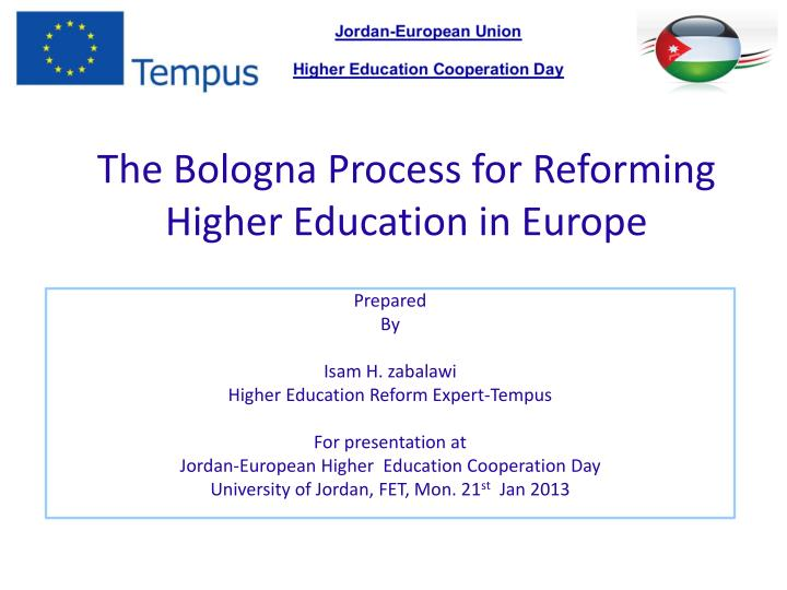 the bologna process for reforming higher education in europe n.