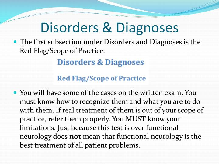Disorders & Diagnoses