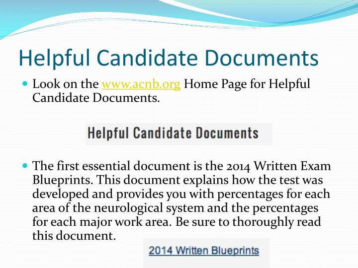 Helpful candidate documents
