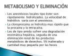 metabolismo y eliminaci n