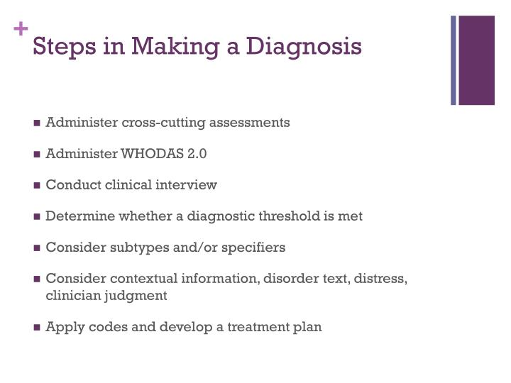 Steps in Making a Diagnosis