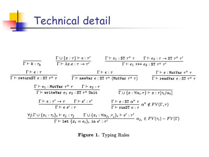 Technical detail