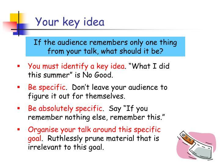 Your key idea
