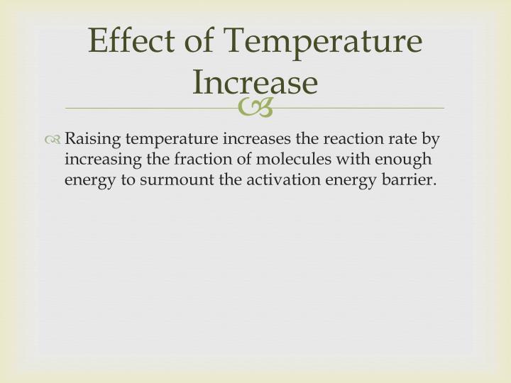 Effect of Temperature Increase