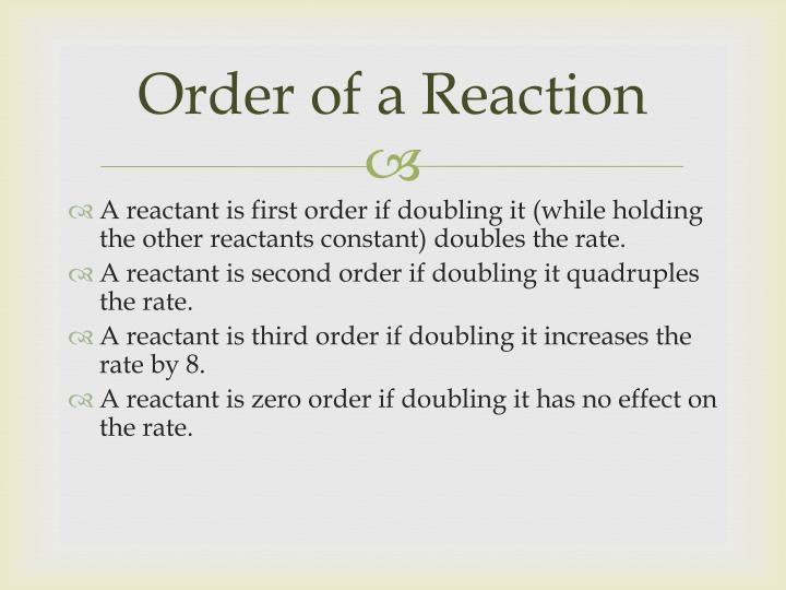 Order of a Reaction