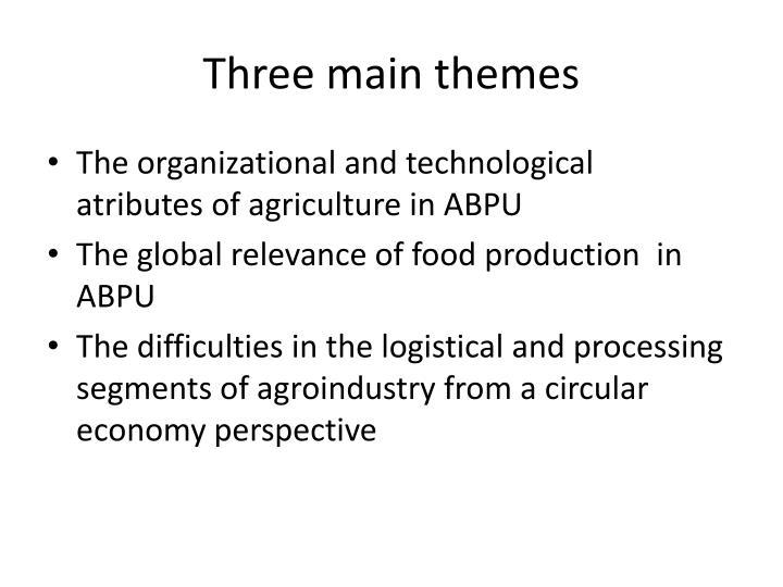 Three main themes