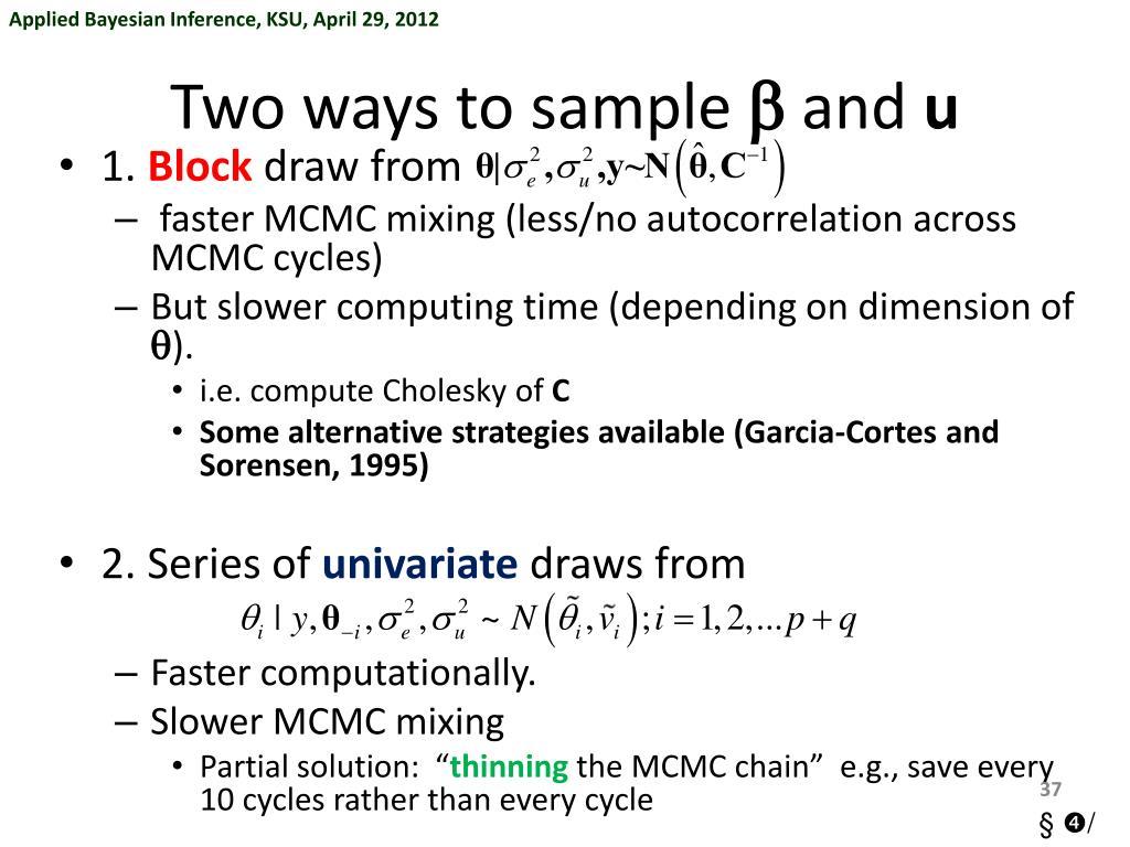 PPT - §➃ The Bayesian Revolution: Markov Chain Monte Carlo (MCMC
