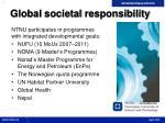 global societal responsibility