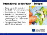 international cooperation europe i