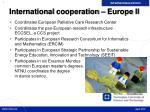 international cooperation europe ii