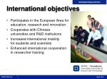 international objectives