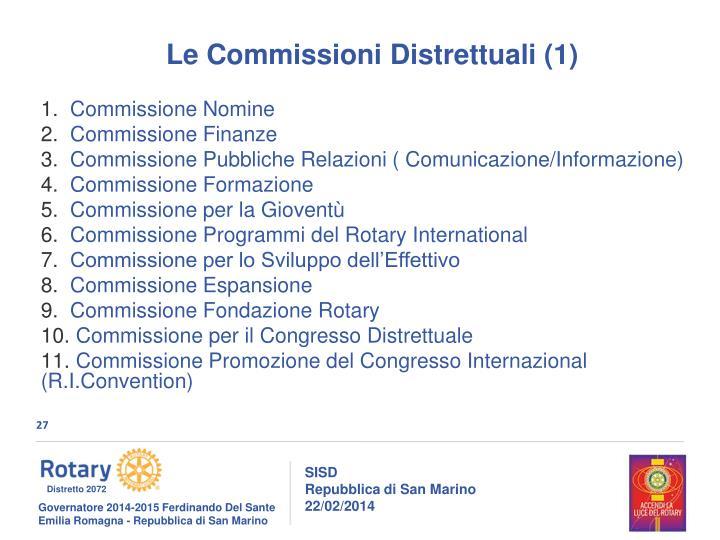 Le Commissioni Distrettuali (1)