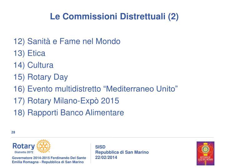 Le Commissioni Distrettuali (2)