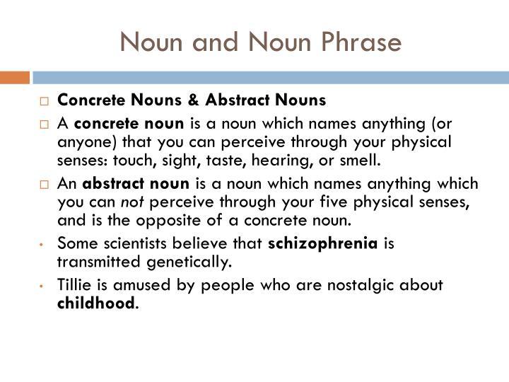 Noun and noun phrase1