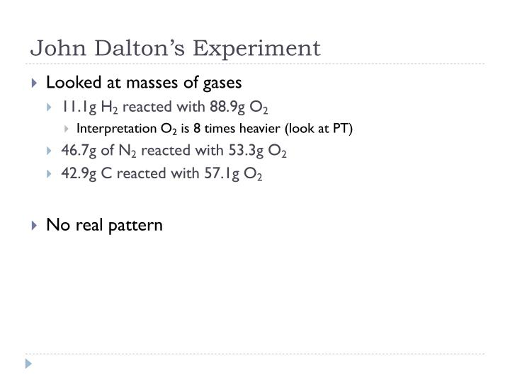 John Dalton's Experiment