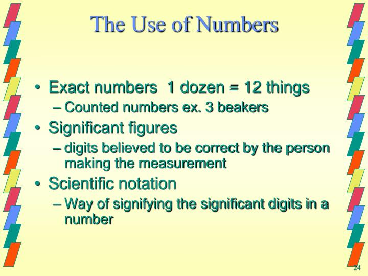 The Use of Numbers