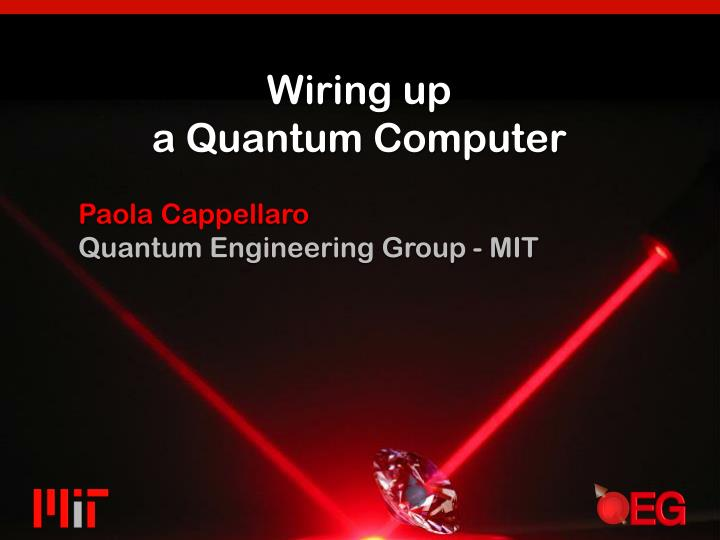 wiring up a quantum computer n.